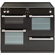 Buy Belling DB4 100Ei Induction Hob Range Cooker, Black Online at johnlewis.com