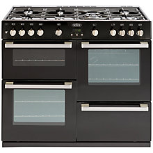 Buy Belling DB4 100G Gas Range Cooker, Black Online at johnlewis.com