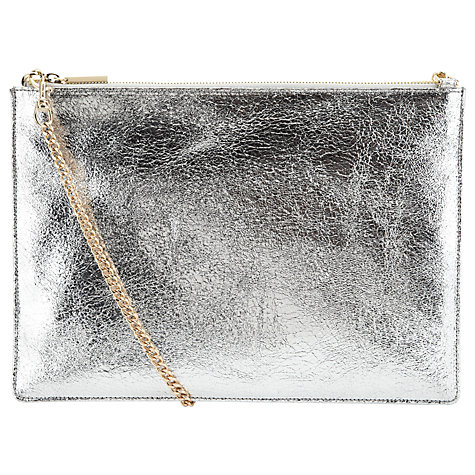 Buy Whistles Rivington Leather Chain Clutch Bag Online at johnlewis.com