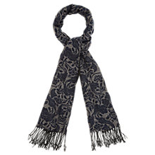 Buy Viyella Floral Jacquard Scarf, Navy Online at johnlewis.com