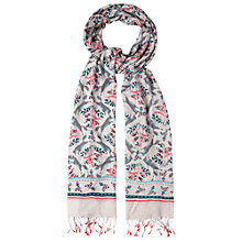 Buy White Stuff Leaping Fox Print Scarf, Grey Online at johnlewis.com