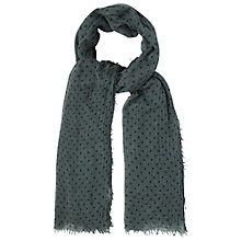 Buy White Stuff Spot Print Scarf, Privet Green Online at johnlewis.com