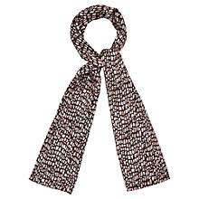 Buy Viyella Tile Print Silk Scarf, Petal Online at johnlewis.com