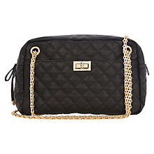 Buy Oasis Poppy Quilted Shoulder Bag, Black Online at johnlewis.com