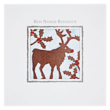 Buy Paperhouse Rudolph Christmas Card Online at johnlewis.com