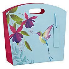 Buy John Lewis Paradise Floral Small Gift Bag, Blue Online at johnlewis.com