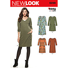 Buy New Look Women's Dress Sewing Pattern, 6298 Online at johnlewis.com