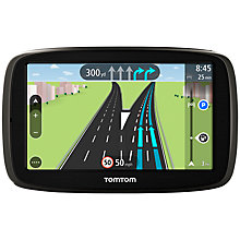 Buy TomTom Start 50 GPS Navigation System, Free Lifetime Western Europe Maps Online at johnlewis.com