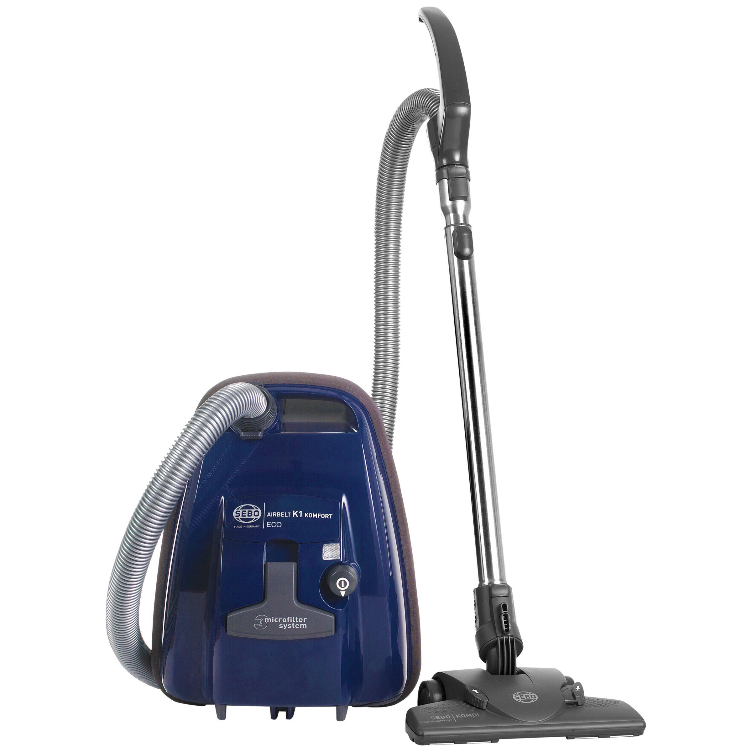 Sebo Sebo K1 Komfort Eco Cylinder Vacuum Cleaner, Blue