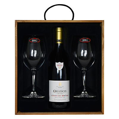 Oraison Wine and Riedel 2 Glasses Boxed Set, 75cl