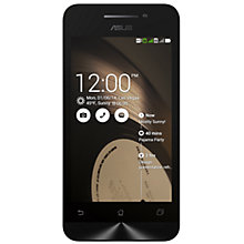 "Buy Asus ZenFone 4 Smartphone, Intel Atom, Android, 4"", 8GB, SIM Free Online at johnlewis.com"