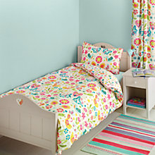 Buy little home at John Lewis Birds & Buttons Single Duvet Cover and Pillowcase Set Online at johnlewis.com