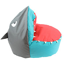 Buy little home at John Lewis Waves & Whales Shark Bean Bag Chair Online at johnlewis.com