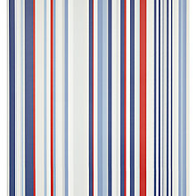 Buy little home at John Lewis Harrison Stripe Wallpaper, Red/Blue Online at johnlewis.com