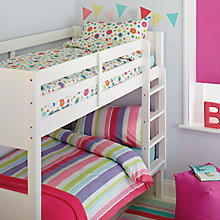 Buy little home at John Lewis Birds & Buttons Single Duvet Cover and Pillowcase Sets, Twin Pack Online at johnlewis.com