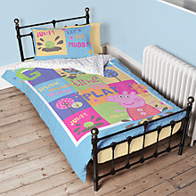 Buy Peppa Pig Single Duvet Cover and Pillowcase Set Online at johnlewis.com