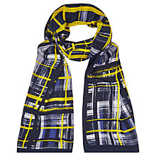 Buy Windsmoor Check Print Scarf, Navy Online at johnlewis.com
