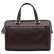 Buy Reiss Enzo Boxy Leather Tote, Burgundy Online at johnlewis.com
