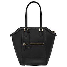 Buy Reiss Marlo Structured Tote, Black Online at johnlewis.com