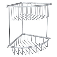 Buy John Lewis Large Brass 2 Tier Corner Shower Basket Online at johnlewis.com