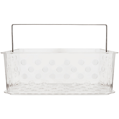 Bliss Plastic Bathroom Storage Basket, Large