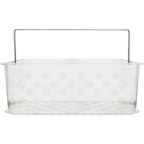 Buy bliss plastic bathroom storage basket large john lewis for Bathroom storage ideas john lewis