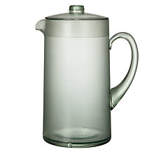 Buy John Lewis Croft Collection Linen Pitcher, Sage Online at johnlewis.com