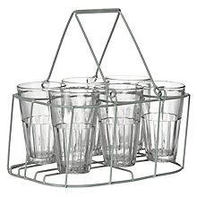 Buy John Lewis Croft Collection Glass Carrier, 6 Bottles Online at johnlewis.com