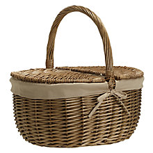 Buy John Lewis Croft Collection Willow Picnic Hamper, Unfilled Online at johnlewis.com