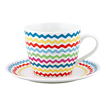 Buy Cath Kidston Large Cup & Saucer Cranham Online at johnlewis.com