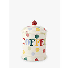 Buy Emma Bridgewater Polka Dot Text Coffee Storage Jar Online at johnlewis.com