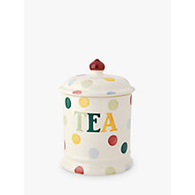 Buy Emma Bridgewater Polka Dot Text Tea Storage Jar Online at johnlewis.com