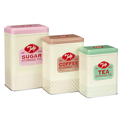 Tala Tea Coffee Amp Sugar Nested Storage Canisters Set Of 3