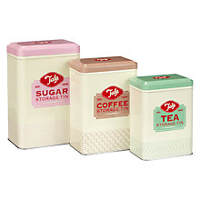 Buy Tala Tea, Coffee & Sugar Nested Storage Canisters, Set of 3 Online at johnlewis.com