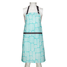 Buy MissPrint Apron, Little Trees, Aqua Online at johnlewis.com