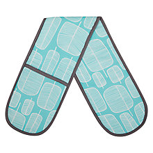 Buy MissPrint Oven Glove, Little Trees, Aqua Online at johnlewis.com
