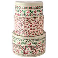 Buy Emma Bridgewater Christmas Joy Cake Storage Tins, Set of 3 Online at johnlewis.com