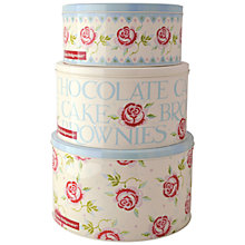 Buy Emma Bridgewater Rose and Bee Cake Tins, Set of 3 Online at johnlewis.com