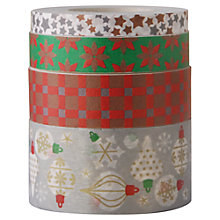 Buy Rico Christmas Ornament Print Tape, Pack of 4, Multi Online at johnlewis.com