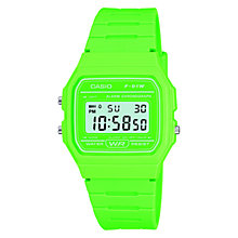 Buy Casio F-91WC-3AEF-JLP-S Unisex Core Retro Casual Resin Strap Watch, Green Online at johnlewis.com
