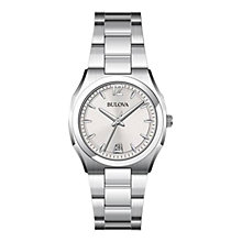 Buy Bulova 96M126 Women's Dress Bracelet Watch, Silver Online at johnlewis.com