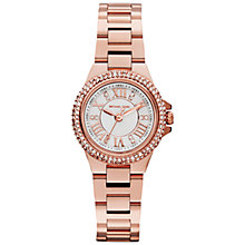 Buy Michael Kors MK3253 Women's Mini Camille Watch, Rose Gold Online at johnlewis.com