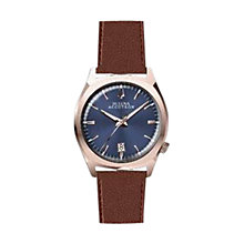 Buy Bulova 97B133 Men's Accutron II Precionist Leather Strap Watch, Brown/Blue Online at johnlewis.com