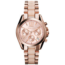 Buy Michael Kors MK6066 Women's Bradshaw Watch, Rose Gold Online at johnlewis.com