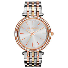 Buy Michael Kors MK3203 Women's Darci Glitz Watch, Tri-Tone Online at johnlewis.com