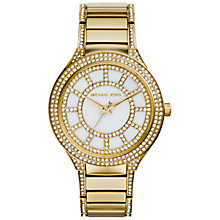 Buy Michael Kors MK3312 Women's Kerry Crystal Embellished Bracelet Strap Watch, Gold/White Online at johnlewis.com