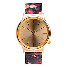 Buy Komono KOM-W1829 Unisex Wizard Print Series Leather Strap Watch, Flemish Baroque Online at johnlewis.com