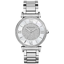 Buy Michael Kors MK3355 Women's Catlin Watch, Silver/Mother of Pearl Online at johnlewis.com