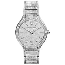 Buy Michael Kors MK3359 Women's Kerry Stainless Steel Crystal Watch, Silver Online at johnlewis.com