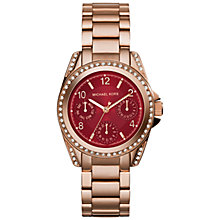 Buy Michael Kors MK6092 Women's Blair Watch, Rose Gold / Crimson Online at johnlewis.com